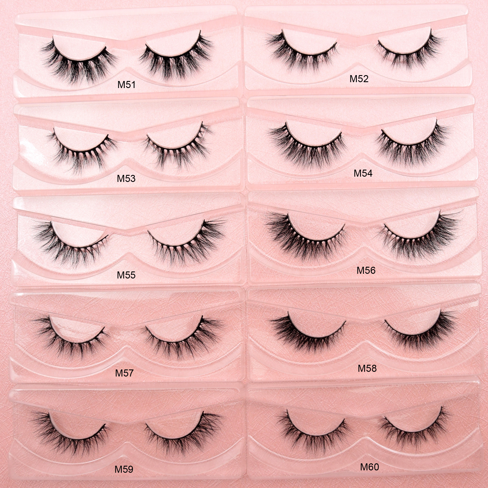 Visofree Mink Eyelashes 3D Mink Lashes Winged HandMade Full Strip Lashes Cruelty Free Mink Lashes False Eyelashes Makeup Tools