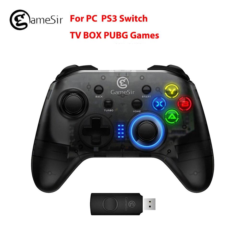 GameSir T4 Gamepad para PS3 2.4 GHz Controlador Joystick para PC Jogo com Receptor USB Wired Gamepad para Windows (7/8/9/10) PC