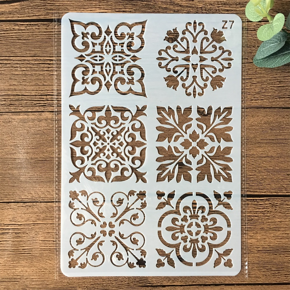 26*17cm Flower Square Frame DIY Layering Stencils Wall Painting Scrapbook Coloring Embossing Album Decorative Card Template