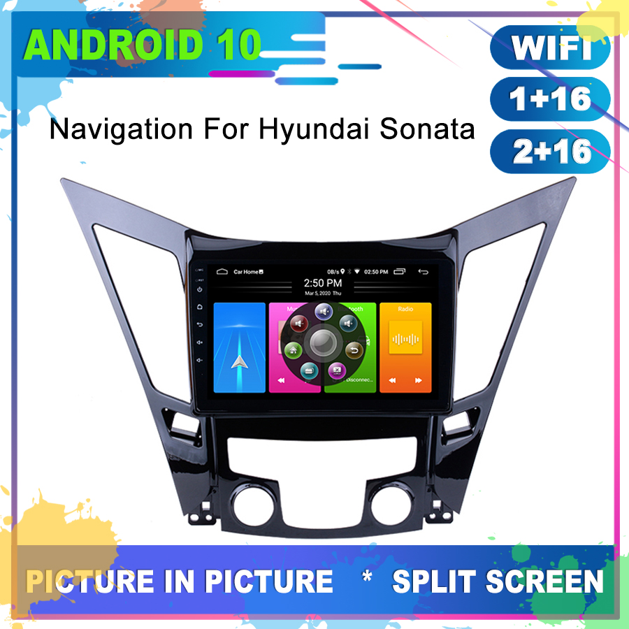 OTOJETA Car Radio Android 10.0 <font><b>GPS</b></font> Navigation for <font><b>HYUNDAI</b></font> Sonata <font><b>i40</b></font> i45 Head Unit Stereo Multimedia Player Internet Full Touch image