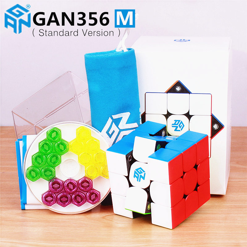 GAN356 M Magnetic Magic Speed Cube Stickerless GAN356M Magnets Professional GAN 356 M Puzzle Cubes GANS