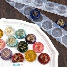 2pcs Set DIY Epoxy Resin Semi-circular Spherical Mirror Mold Crystal Epoxy Mold