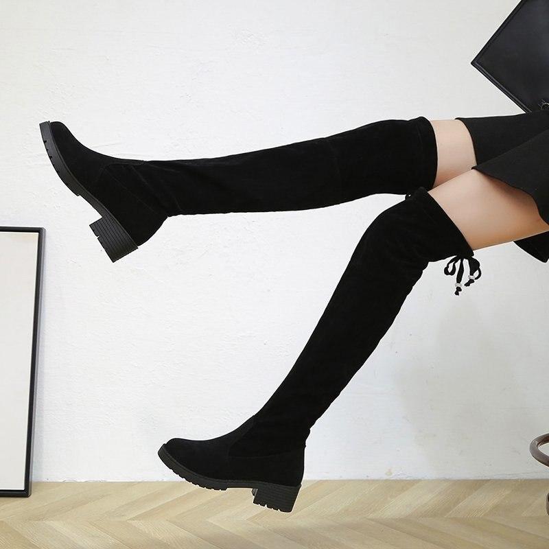 de salto quadrado plutônio plataforma quente longo tubo botas mujer