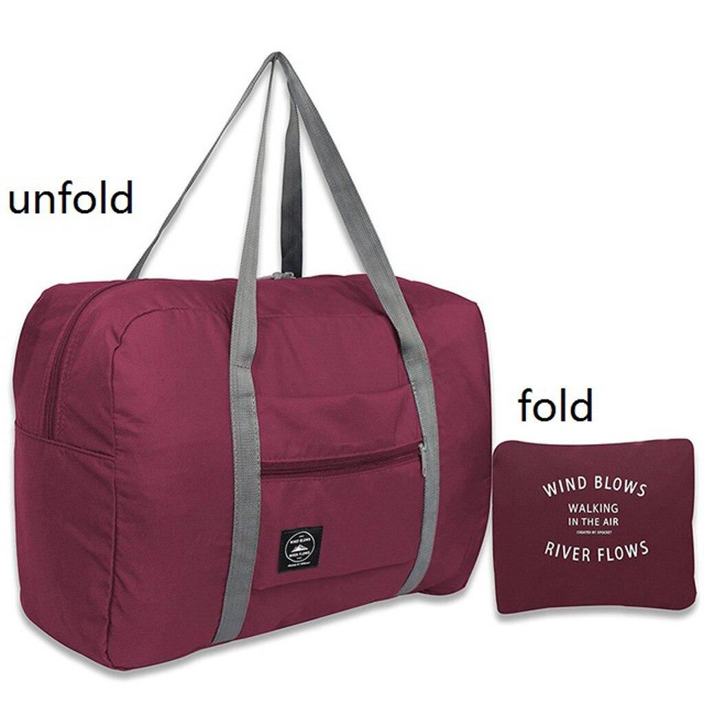 Waterproof Nylon Travel Bag Ladies Men's Large-capacity Folding Sandbags Storage Bag Packaging Cube Luggage Girl Weekend Bag