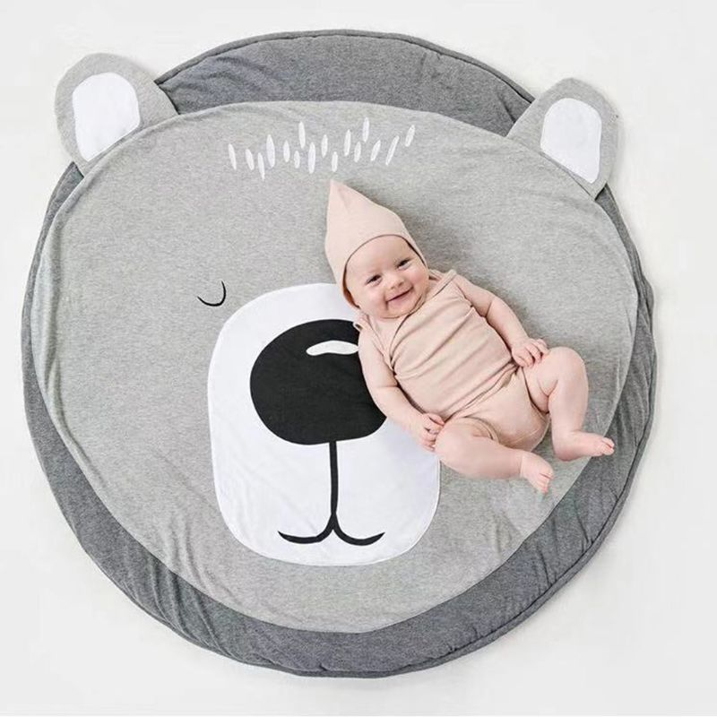 Cute Lovely Baby Crawling Pad Round Cartoon Bear Kids Newborn Play Game Mat Children Toy Carpet