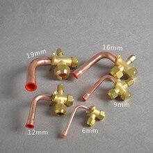 6/10/12/16/19 мм утепленные кондиционер клапан BSP Thread 3 Way изгиб штуцер с гайкой Разделение расширительный клапан для кондиционера воздуха