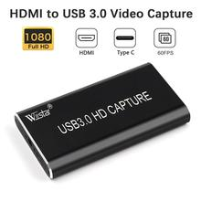 цена на HDMI Video Capture HDMI to USB 3.0 Type C 1080P Video Capture Card Dongle for TV PC PS4 Game Live Stream for Windows Linux Os X
