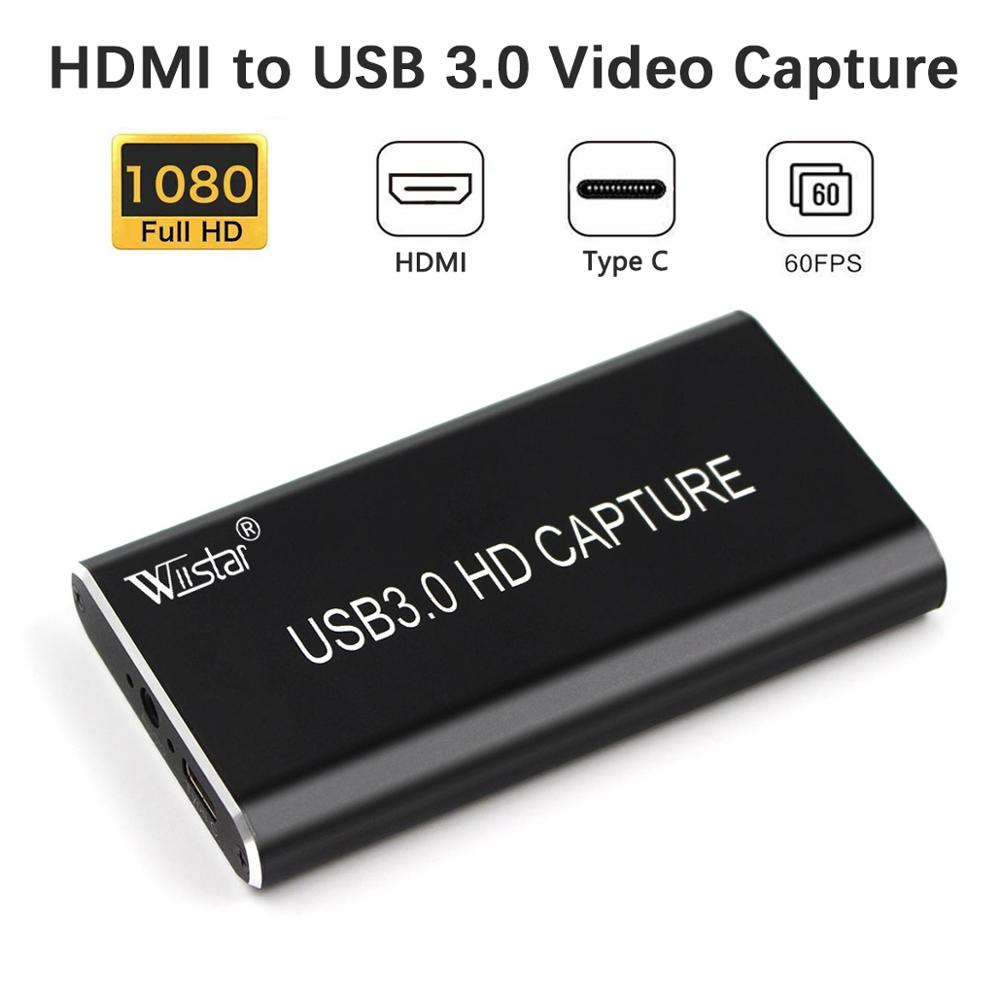 USB Video Capture Card HDMI to USB 3.0 1080P Video Capture Device Dongle for TV PC PS4 Game Live Stream for Windows Linux Os X