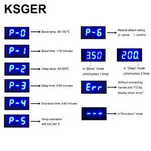 Image 2 - KSGER T12 STM32 محطة لحام رقمية T12 نصائح الحديد السيارات النوم زيادة درجة الحرارة التدفئة السريعة 907 ABS مقبض عدد وأدوات