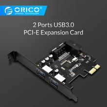 цена на ORICO PVU3-2O2I Desktop 2 Port USB3.0 PCI Express Card 5Gbps for Laptop-Black
