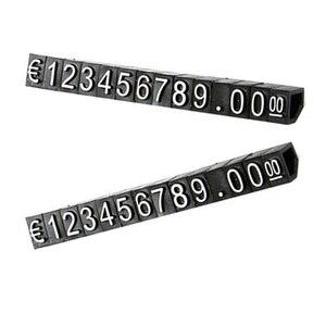 30 шт комбинированный ценник евро цифра кубики палка для одежды телефон ноутбук ювелирные изделия Витрина Счетчик цена дисплей