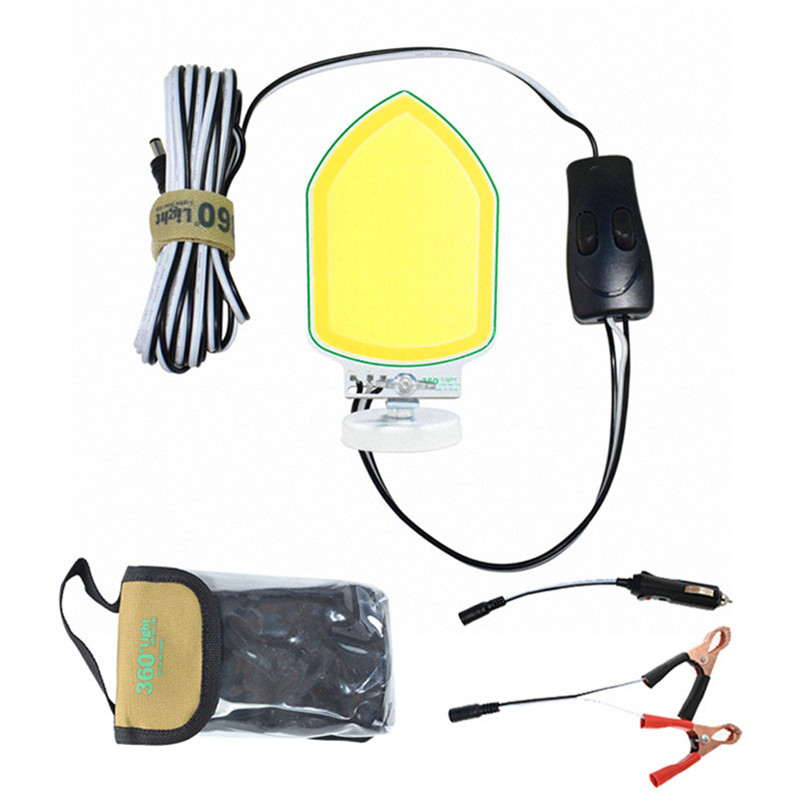Camp Removable Emergency Lighting 20W LED Floodlights USB Connector COB  Double Color Magnetic Base Rechargeable Work Lamp