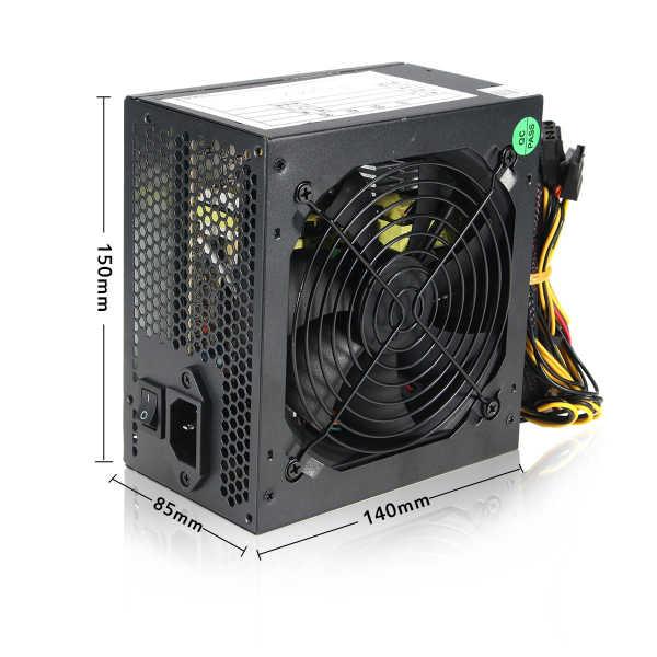 MAX 600W moc PC dostaw 12cm cichy wentylator z inteligentna temperatura sterowania dla Intel AMD ATX 12V do komputera stacjonarnego