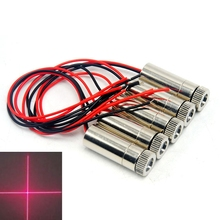 цена на 5pcs Dia 12mm Red Positioning Lights 650nm 50mw Laser Cross Module Focusable Head 3V-5V