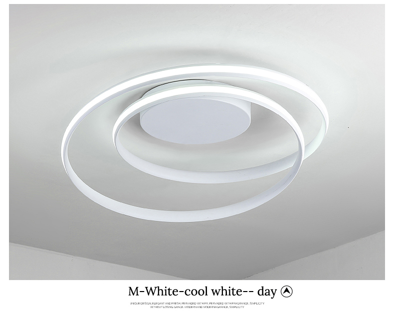 Hdd660f62dcae44c18eab0721b729c09am Modern Ceiling Lights LED Lamp For Living Room Bedroom Study Room White black color surface mounted Ceiling Lamp Deco AC85-265V