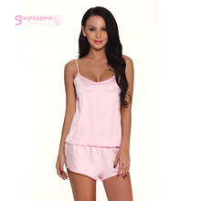 Open Back Sexy Strap Underwear Lace Womens Satin Silk Pajamas Sex Hot New Suit Fashion