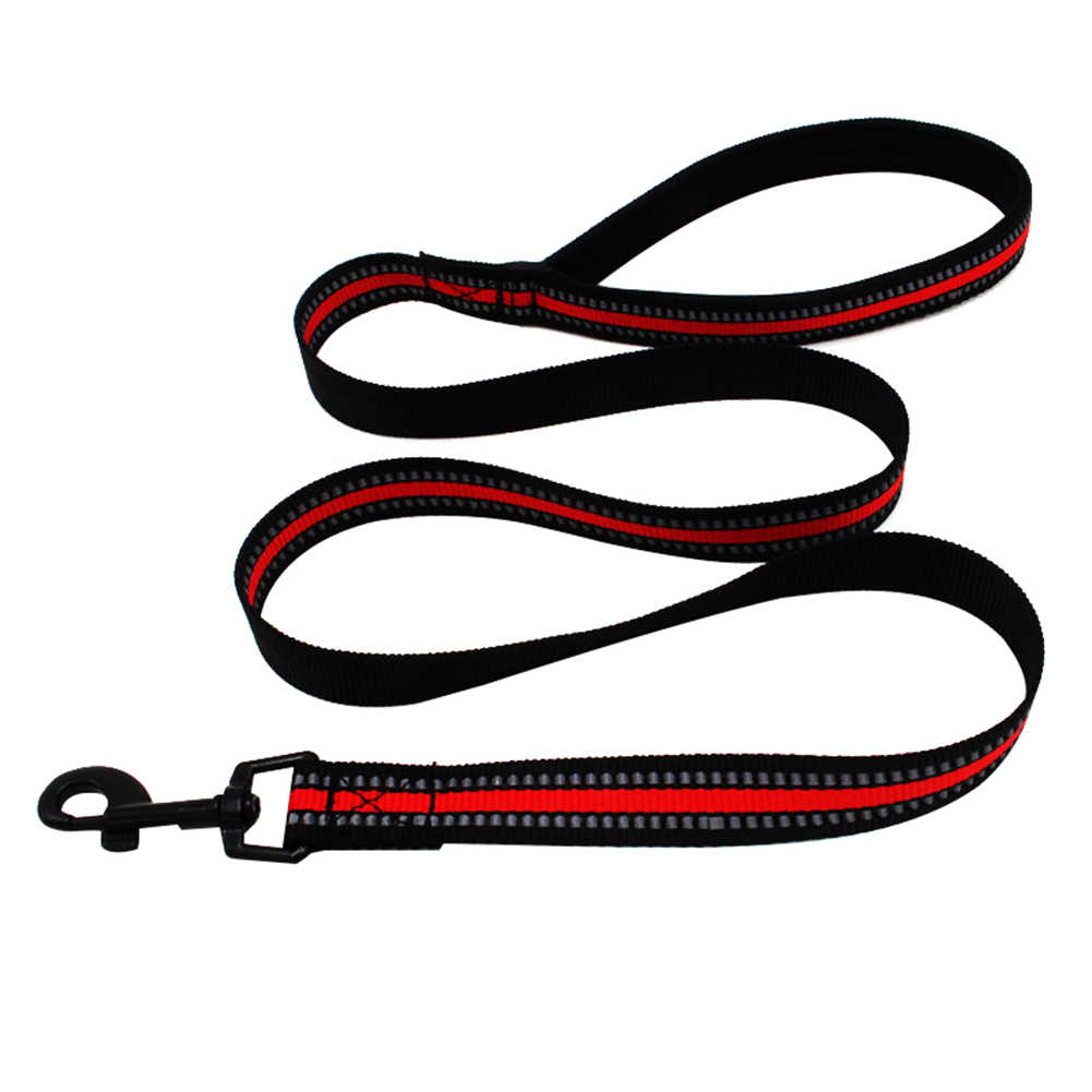 反射ペット子犬犬のチェーン牽引ロープベルトトレーニングウォーキングリードリーシュストラップ