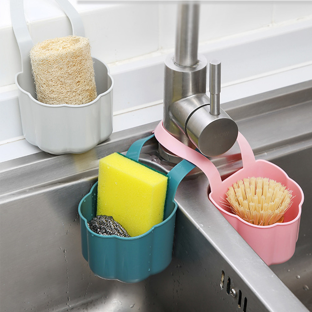 Kitchen Hanging Sink Drain Shelf Bag Basket Bath Storage Tools Holder Sink Organizer Kitchen Bathroom Items