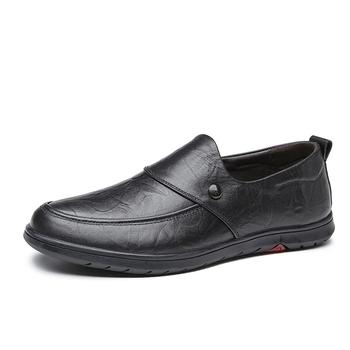 2019 męskie buty z prawdziwej skóry męskie buty z prawdziwej skóry 38-44 głowa skóra miękka antypoślizgowe gumowe buty wsuwane 1568 tanie i dobre opinie EUDILOVE Skóra bydlęca Wiosna jesień NONE Mokasyny Pasuje prawda na wymiar weź swój normalny rozmiar Oddychająca
