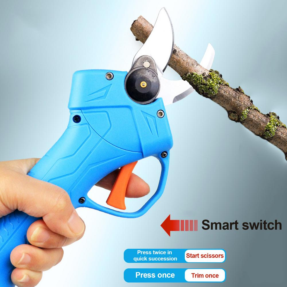 Professional Cordless Electric Pruning Shears With 2 Pack Backup Rechargeable 2Ah Lithium Battery Powered Tree Branch Pruner