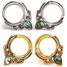 1pc expansão da orelha de aço inoxidável expansão da orelha água gota escudo da orelha perfil punctura explosão feminina jóias punctura