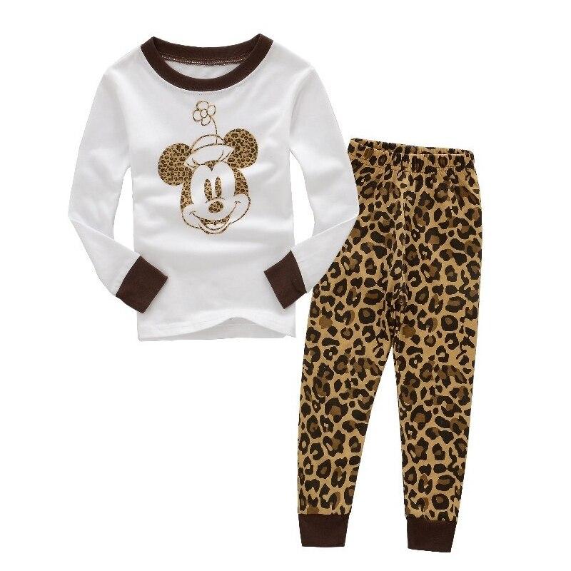 Autumn Winter Mickey Minnie Kids Girls Boys Clothes Baby Pajamas Long Sleeved Cartoon Children's Edward Sleepwear 3
