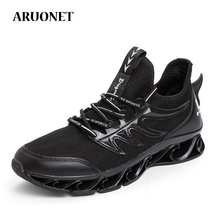 AURONET Classic White Shoes Men Chic Sneakers Spring New Male Mesh Breathable Platform For Heren Schoenen
