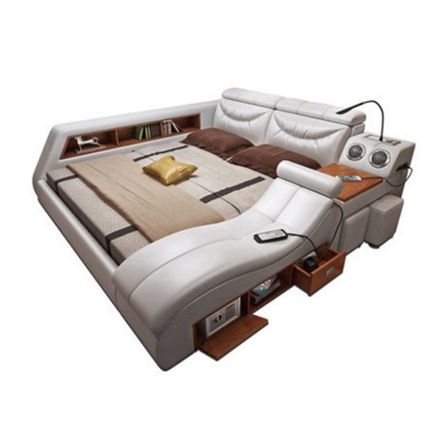 Genuine Leather Bed Frame  2
