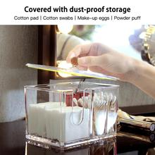 Acrylic Multifunctional Round Container Cosmetic Makeup Cotton Pad Organizer Desktop Tool Jewelry Case fashion
