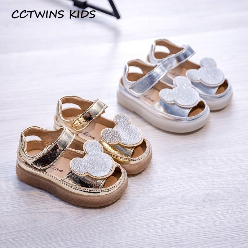 Kids Cute Sandals Shoes 2020 Summer Children Rhinestone Shoes Baby Girls Brand Princess Sandals Toddler Fashion Soft Flat PS845