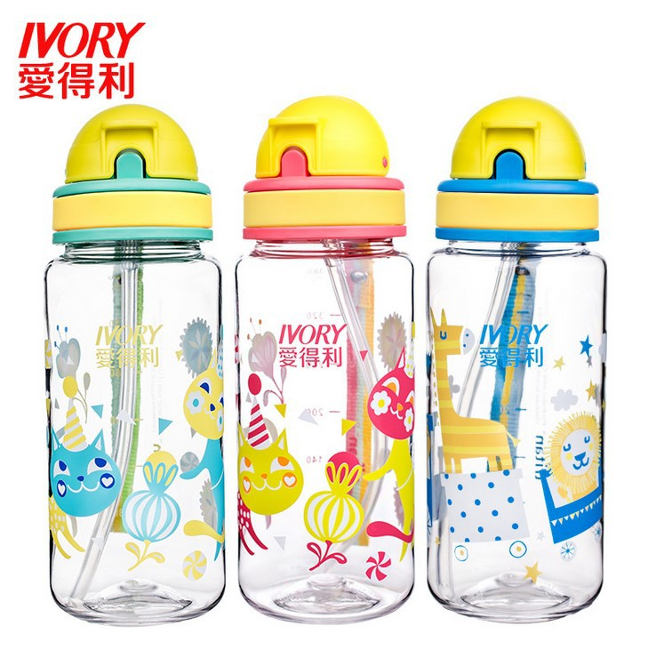 Love Baby Cup Tritan Cup With Straw Baby Rope Holding Portable Children 380ml Drink Glass Af-120