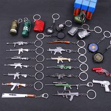PUBG AWM 98K Keychain Pan ALL Rifle Model Playerunknown's Battlegrounds Cosplay Props Alloy Armor Key Chains Men's Gift key