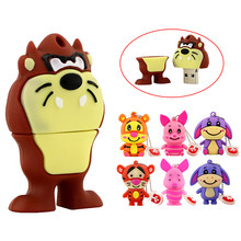 USB2.0 Flash Drive U schijf Leuke Cartoon Ezel/Tiger/Pig Pen Drive 4gb 8GB 16GB 32GB 64gb 128 256 gb Pendrive usb Memory Stick