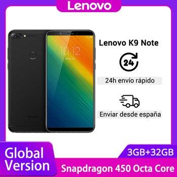 Купить Глобальная версия Lenovo K9 Note 3GB 32GB 6-дюймовый Смартфон Snapdragon Octa Core Face ID Android 8,1 16MP камера 3760mAh аккумулятор