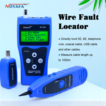 Network monitoring cable tester LCD NF-308 Wire Fault Locator LAN Network Coacial BNC USB RJ45  RJ11 blue color NF_308 free shipping noaya nf 822 new coming underground wire locator