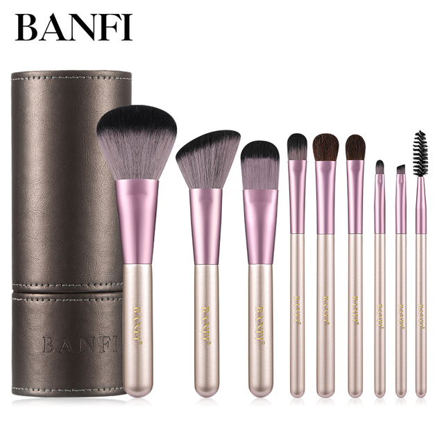 Makeup Brushes Set 9pcs Foundation Blending Powder Eye Face Brush Makeup Tool Kit High Quality Makeup Brush 1