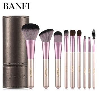 9PCs Makeup Brushes Set Foundation Blending Powder Eye Face Brush Make-up Kit High Quality Soft Makeup Brushes Cosmetic Tools недорого
