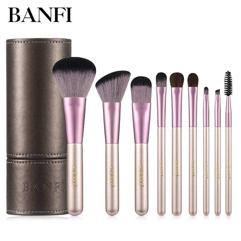 Makeup Brushes Set 9pcs Foundation Blending Powder Eye Face Brush Makeup Tool Kit High Quality Makeup Brush