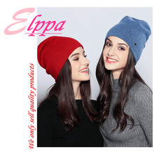 Winter and autumn women''s solid soft keep warm and thicken hat ladies fashion casual knitting hat double wool knitting hat tide leisure time hats lovely student winter keep warm knitting wool hat winter woman wool knitting hat
