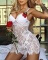 Frauen Spitze Nachthemd Seide Babydoll Dessous Negligés Nachtwäsche Pyjamas sexy kleid erotische kostüme Nachthemd Porno