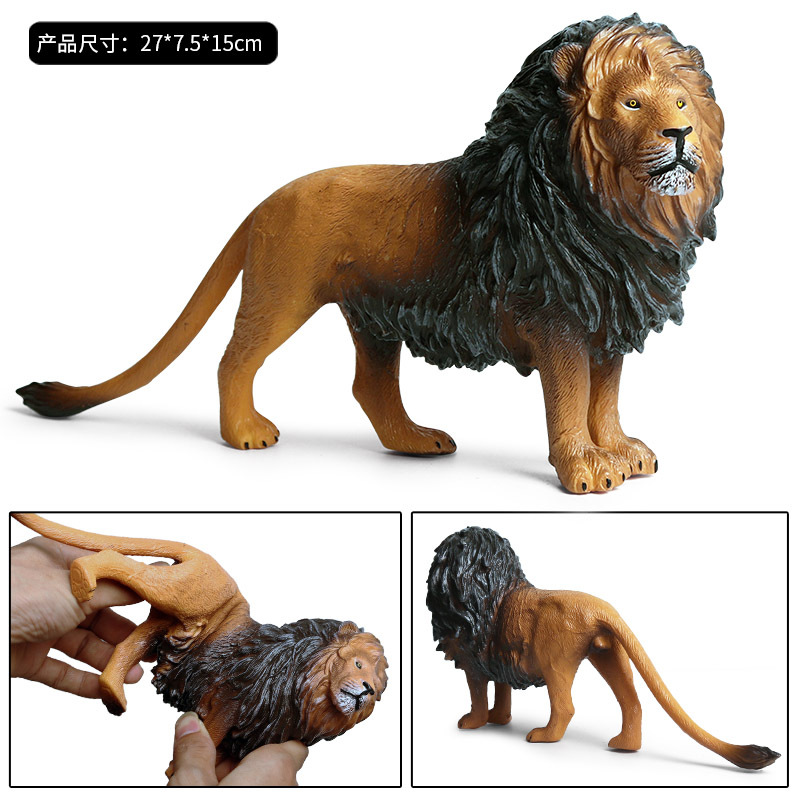 Lion Simulation Animal Model Action Toy Figures Learning  Educational Christmas Gift