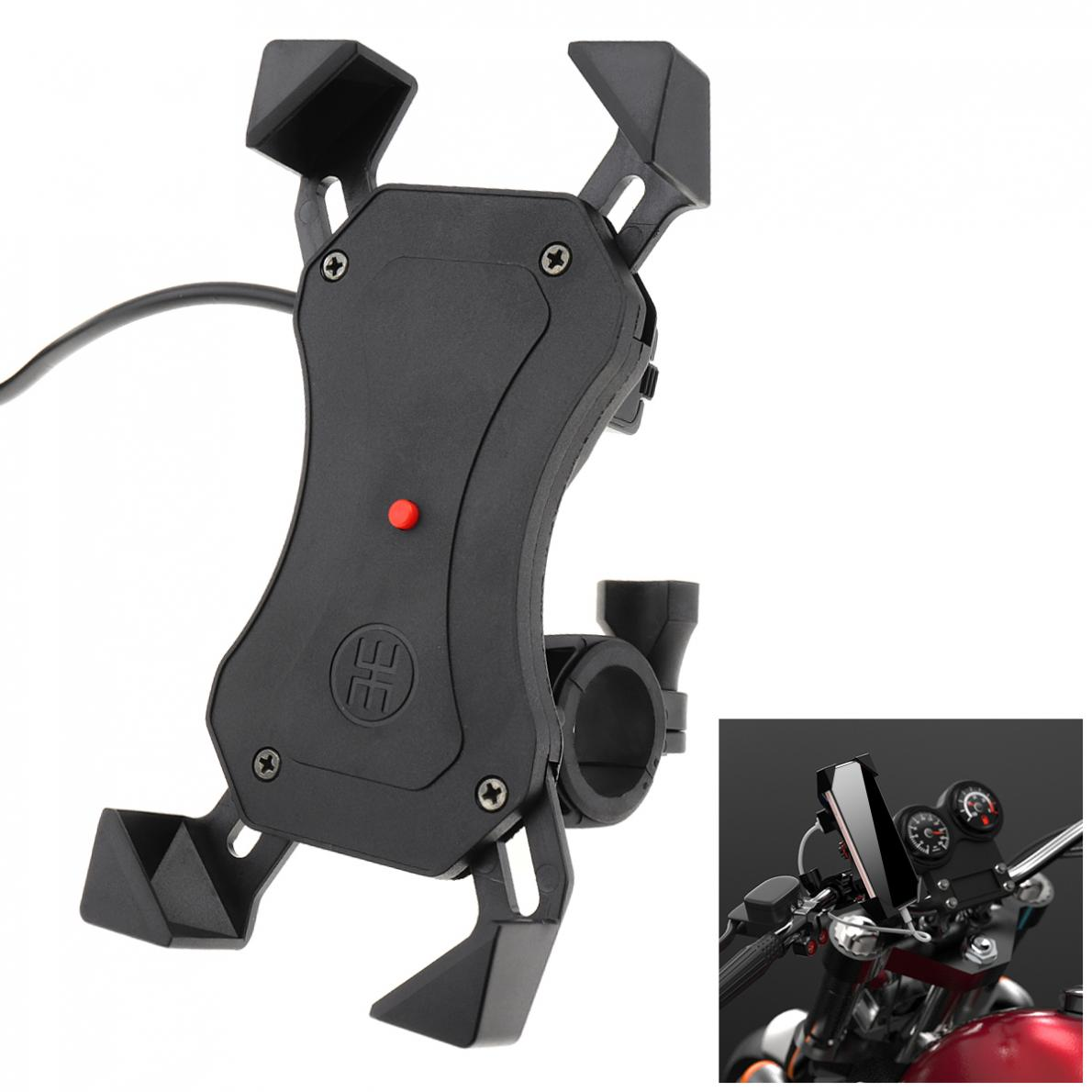 Universal Aluminum Alloy Motorcycle Mobile Phone Holder Support Telephone Moto Holder For GPS Bike Handlebar Holder