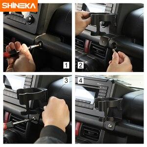 Image 5 - SHINEKA soporte Universal para automóvil Suzuki Jimny JB74 2019 + soporte de teléfono para coche, portavasos, organizador para Jimny 2019 +