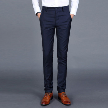 korean version men's Suit pant leisure business Casual Slim Fit trousers no ironing in spring and summer Wedding suit pants