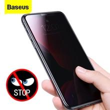 Baseus 2 pçs 0.3mm protetor de tela vidro temperado para iphone 11 pro max anti peeping capa protetora para iphone 11 filme de vidro