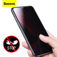 Baseus 2pcs 0.3mm Screen Protector Tempered Glass For iPhone 11 Pro Max Anti Peeping Protective Cover For iPhone 11 Glass Film