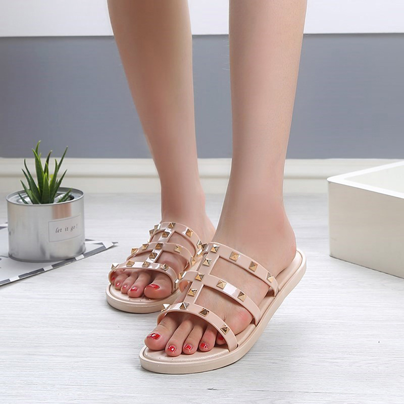 Fashion Women Slides Summer Rivet Slippers Women Shoes Flip Flops Sandals Upstream Lady Shoes Beach Slides Zapatillas Mujer 4