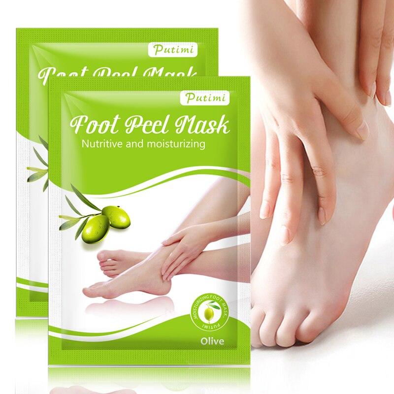 PUTIMI 3Packs Exfoliating Foot Mask For Pedicure Socks For Feet Peeling Mask Foot Mask Feet Dead Skin Removal Crack Heels