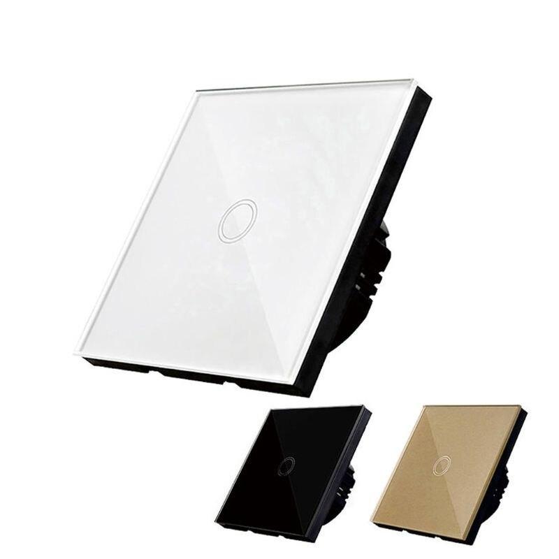 Сенсорный выключатель стандарт ЕС/Великобритании белая Хрустальная стеклянная настенная панель умный WiFi светодиодный светильник