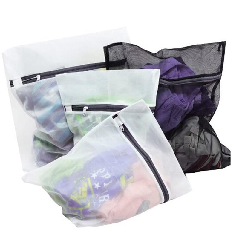 4pcs/set Clothes Washing Machine Laundry Bra Aid Lingerie Mesh Net Wash Storage Bag Pouch Basket Femme EJ878528